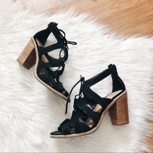 Uggs | Genuine Suede Black Heels